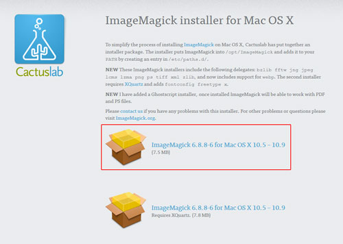 ImageMagick-installer-for-MacOSX