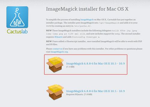 ImageMagick-installer-for-MacOSX